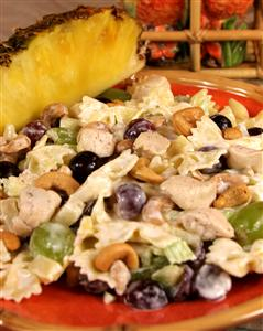 Chicken Pasta Salad with Fruit